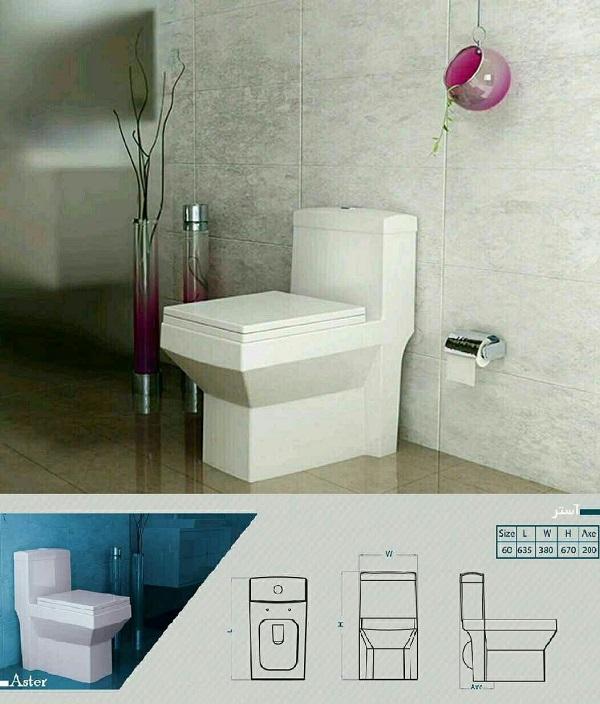 توالت فرنگی آستر گلسار